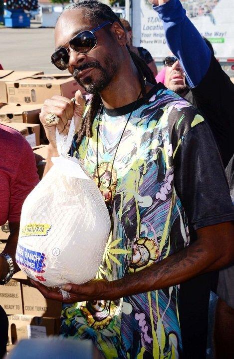 Snoop Dogg mit Truthahn