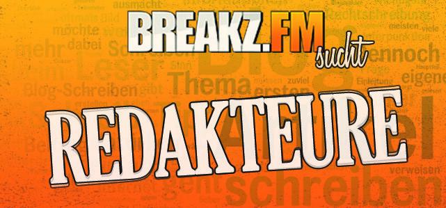 Breakz.FM sucht Redakteure/Redakteurinnen