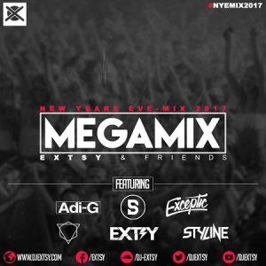 New Years Eve EDM MegaMix 2017 EXTSY & Friends